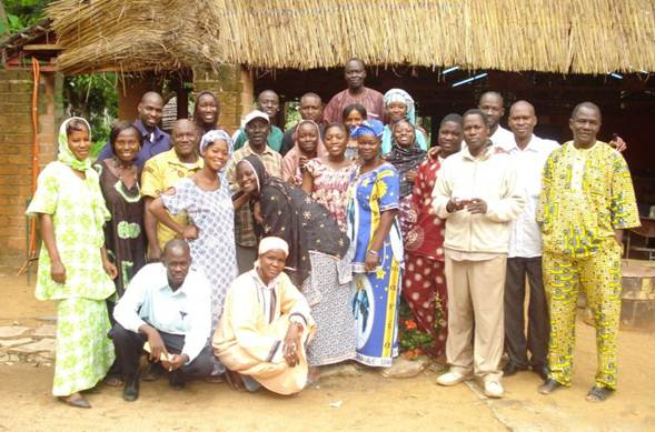 Peace Corps Mali Staff at Tubani So in June 2011