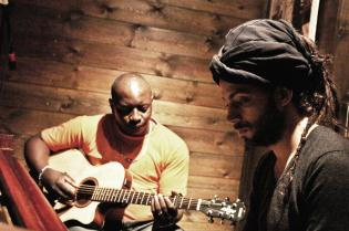 Vieux Farka Touré and Idan Raichel in the studio
